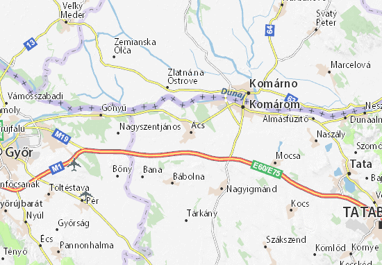 Ács Map