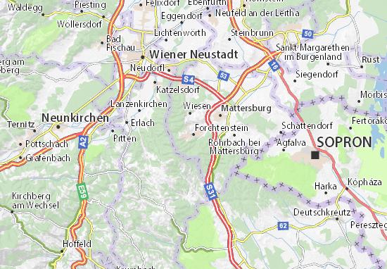 Karte Stadtplan Forchtenstein