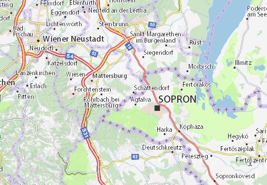 Karte Stadtplan Schattendorf