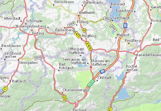 Karte Stadtplan Uffing am Staffelsee