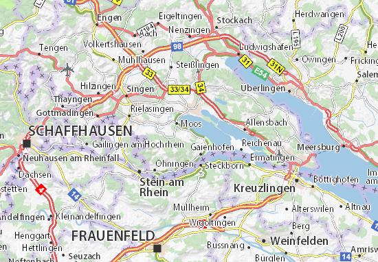 moos am bodensee karte Karte, Stadtplan Iznang   ViaMichelin