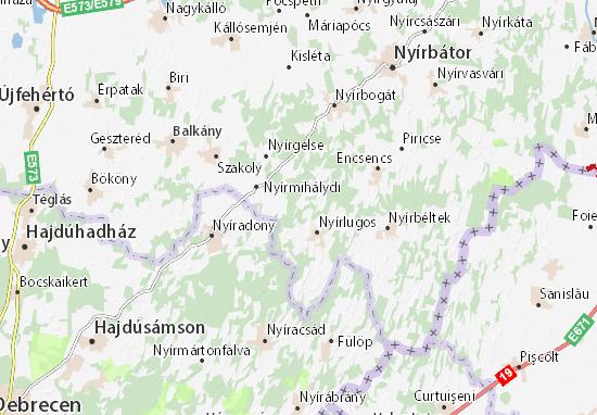 Cserhágó Map