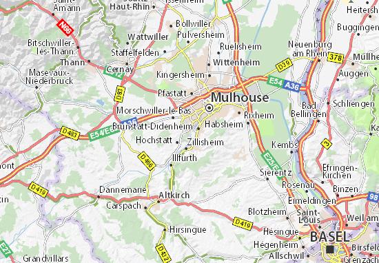 Kaart Plattegrond Didenheim