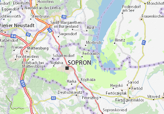 Karte Stadtplan Fertőrákos