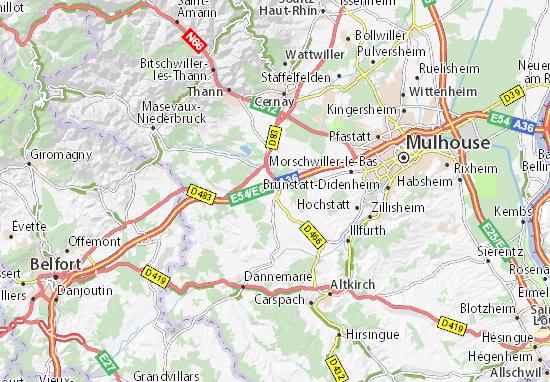 Morschwiller-le-Bas France  city photos gallery : ... Morschwiller le Bas Carte et plan détaillé Morschwiller le Bas