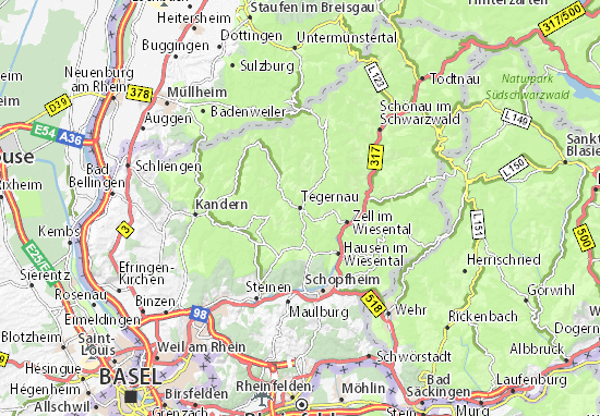 Map Of Zell Germany.Tegernau Map Detailed Maps For The City Of Tegernau Viamichelin