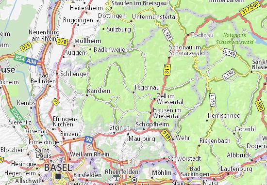 Kaart Plattegrond Tegernau