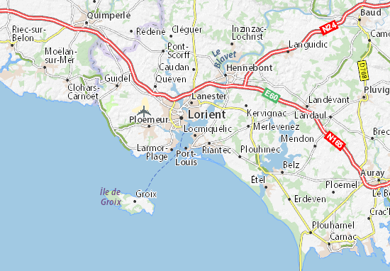 Locmiquélic Map