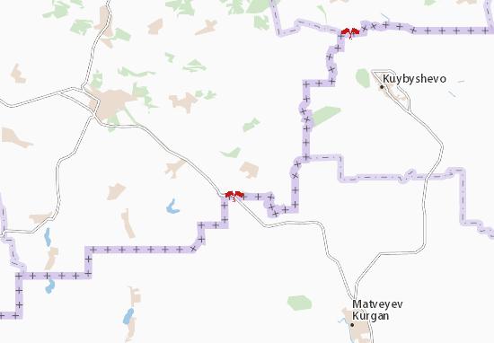 Mapa Plano Uspenka