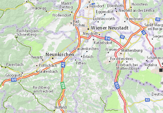 Karte Stadtplan Erlach