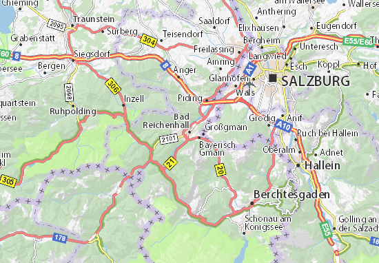 Bad Reichenhall Map