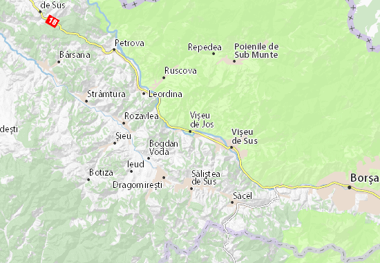 Vişeu de Jos Map