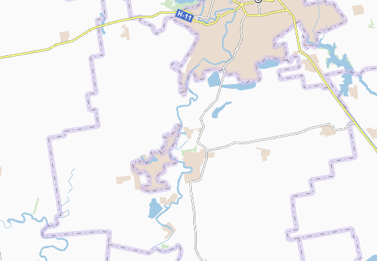 Inhulec' Map
