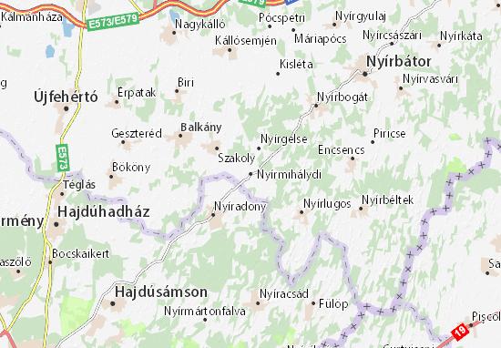 Nyírmihálydi Map