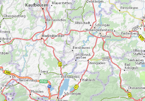 Bernbeuren Map