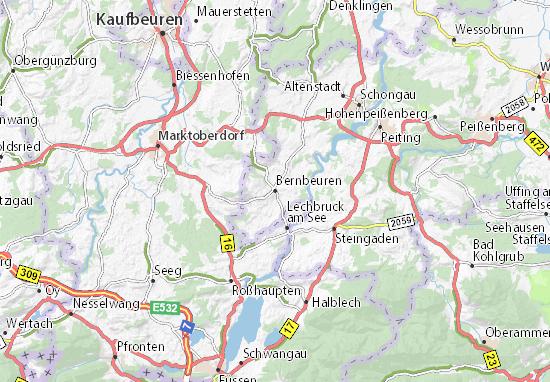 Karte Stadtplan Bernbeuren