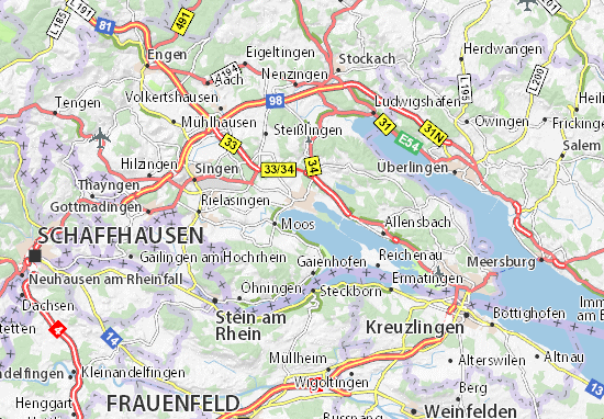 Map Of Uberlingen Germany.Radolfzell Am Bodensee Map Detailed Maps For The City Of Radolfzell