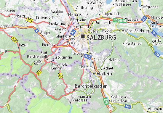 Karte Stadtplan Grödig