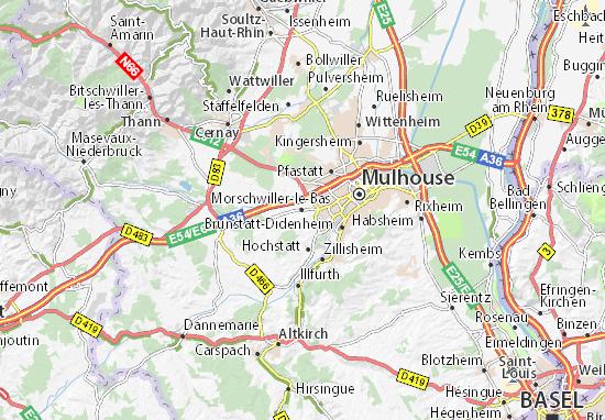 Kaart Plattegrond Morschwiller-le-Bas