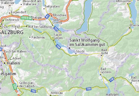 Mapa Plano Sankt Wolfgang im Salzkammergut