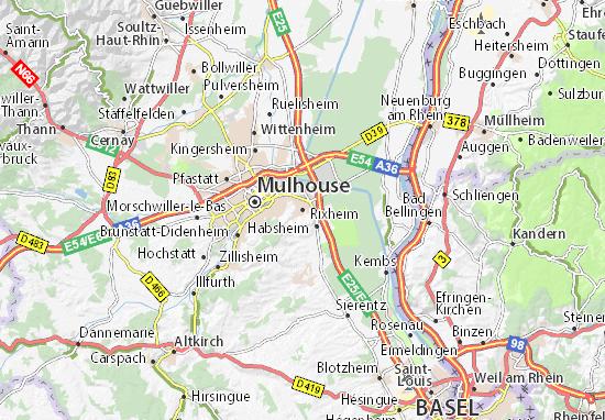 Kaart Plattegrond Rixheim