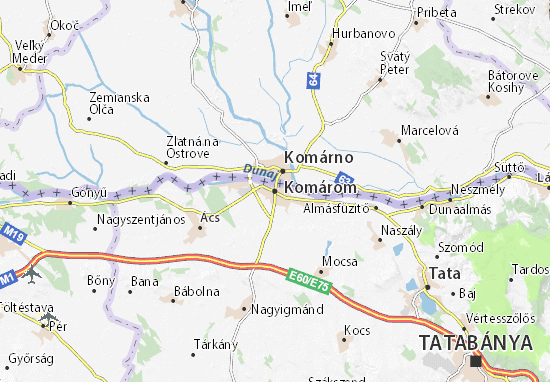 Mapas-Planos Komárom