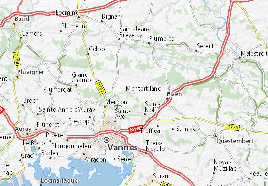 Mapa Plano Monterblanc