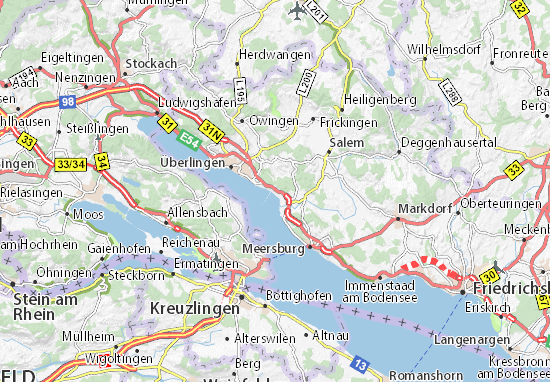 Bodensee Karte.Karte Stadtplan Birnau Viamichelin