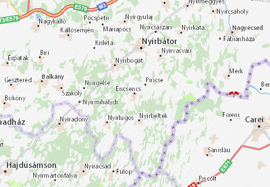 Encsencs Map
