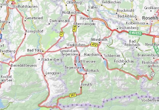 Gmund am Tegernsee Map