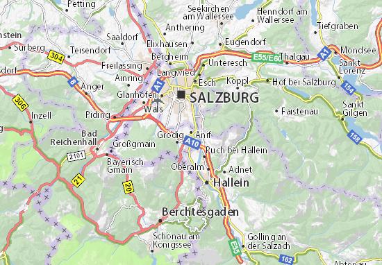 Karte Stadtplan Anif
