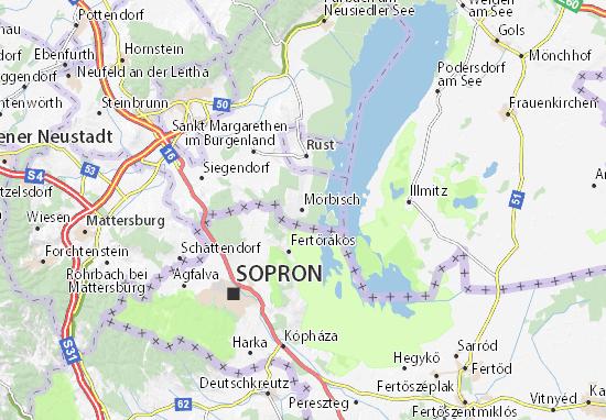 Karte Stadtplan Mörbisch