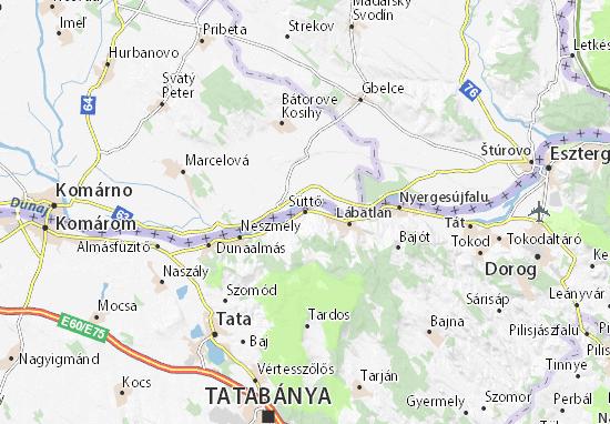 Karte Stadtplan Süttő