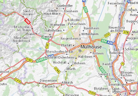 Carte-Plan Lutterbach