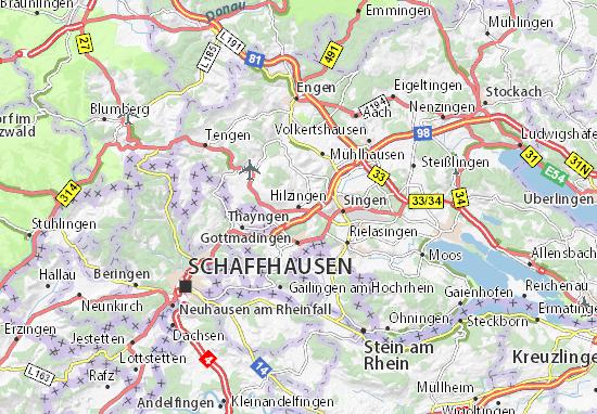 Carte-Plan Hilzingen