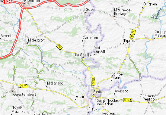 La Gacilly Map