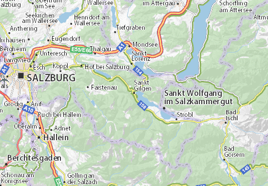Sankt Gilgen Map
