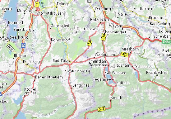 Mapa Plano Reichersbeuern