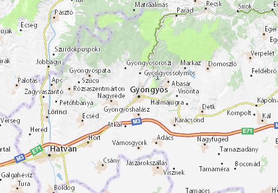 Mapa Plano Gyöngyös