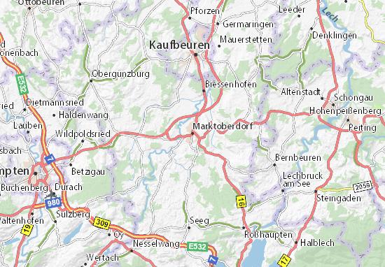 Mapa Plano Marktoberdorf