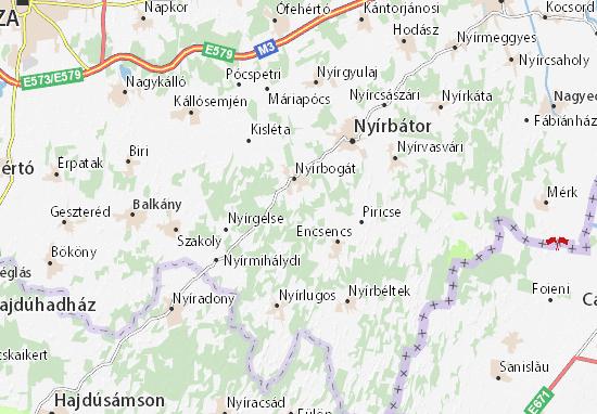 Istvántanya Map