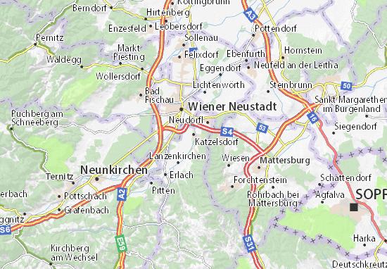 Karte Stadtplan Katzelsdorf