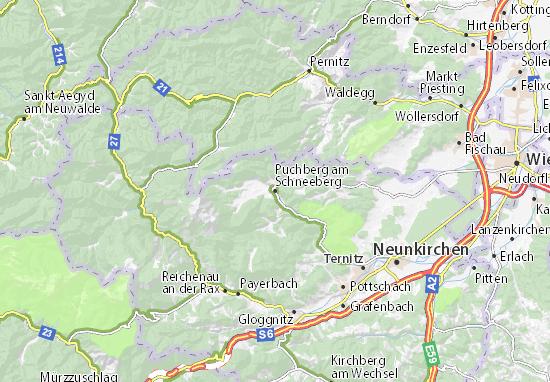 Carte-Plan Puchberg am Schneeberg