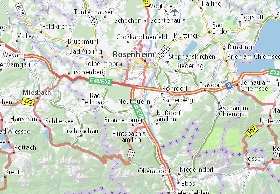 Carte-Plan Raubling