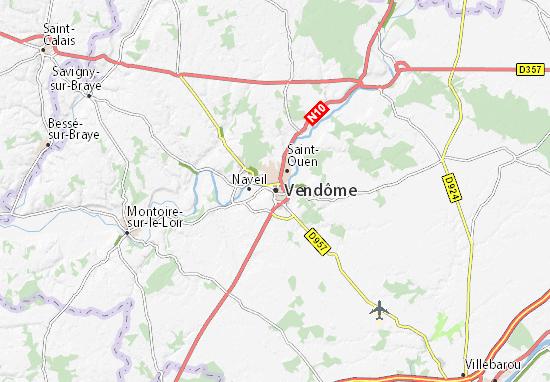 Carte-Plan Vendôme