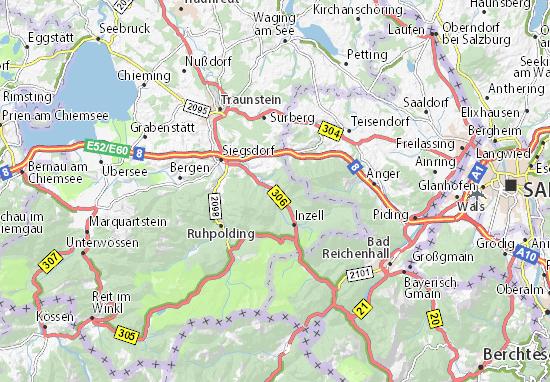 Inzell Karte.Karte Stadtplan Wagenau Viamichelin