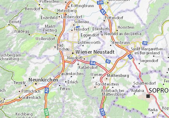 Karte Stadtplan Neudörfl