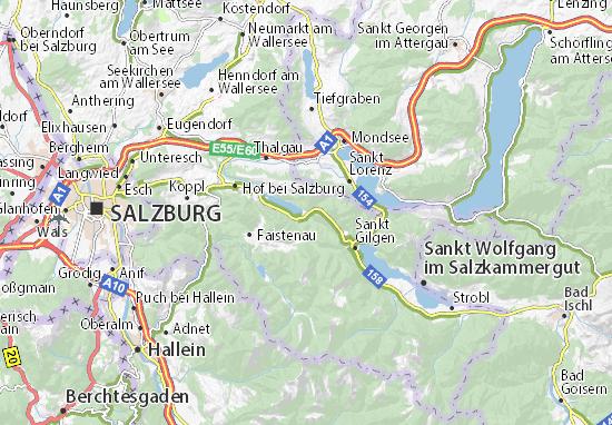 Mapa Plano Fuschl am See