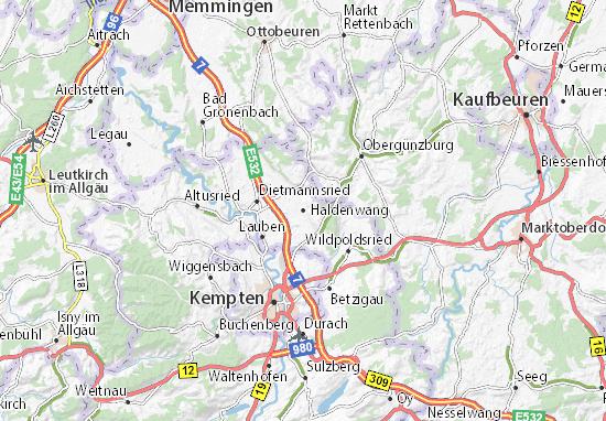 Haldenwang Map