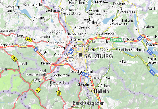 Karte Stadtplan Salzburg